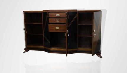 Teakwood cabinet with ebony inlay