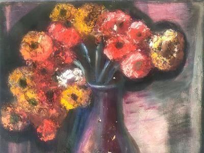 K.H. Ara: Still life with Flowers