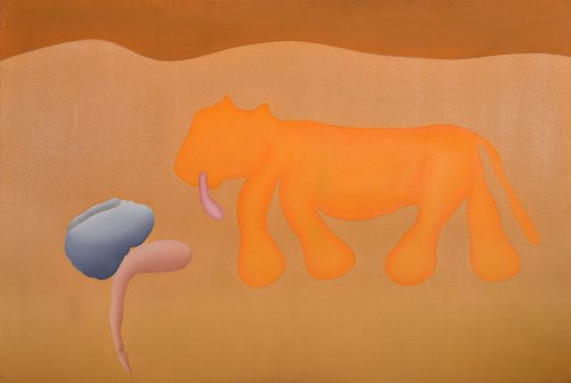Untitled (Man Dreaming & Animal)
