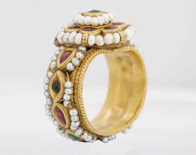 Multi Gem Jadau Gold Ring