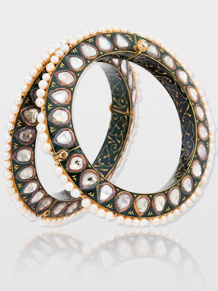 Diamond Pearls Bangle