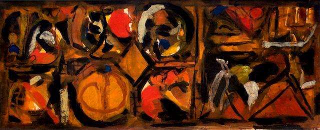 abstract art by S.H. Raza
