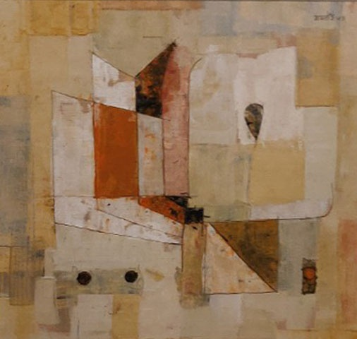 Abstract art made by VS Gaitonde in 1953